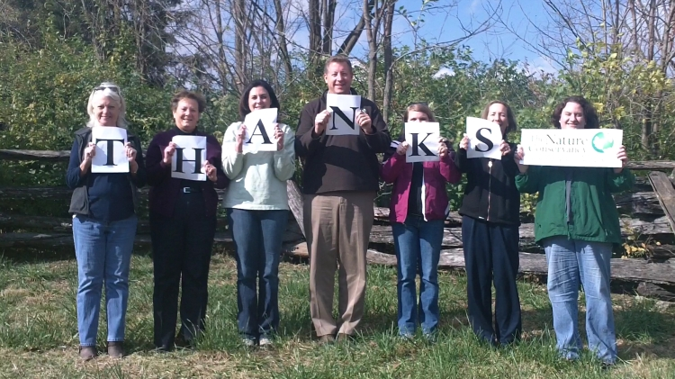 The Nature Conservancy of Kentucky says Thanks!