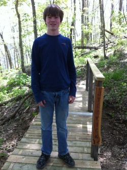 Jake Trawick, a middle school student from Zachary, Louisiana, volunteered with the Conservancy during his Spring Break.