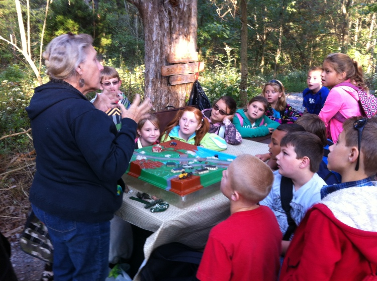 Kentucky fourth-graders participated in outdoor learning at The Nature Conservancy's Dupree Nature Preserve.