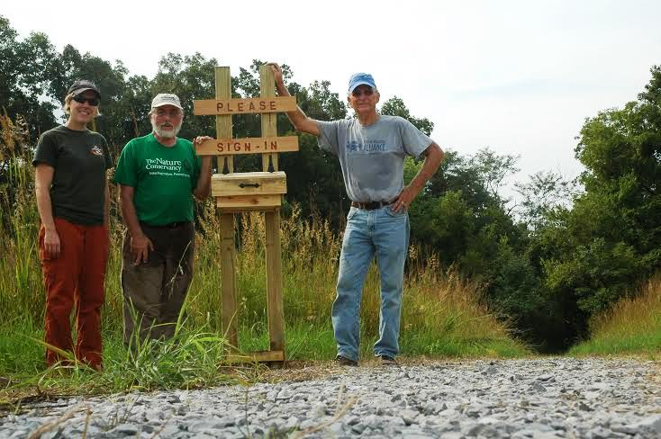 The completed Mantle Rock Nature Preserve sign-in station is ready for visitors!