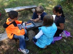 kids building watershed